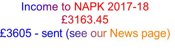 Income to NAPK 2017-18